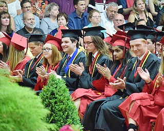 William D. Lewis The Vindicator  Canfield commencement was held 6-1-18 in hte school gym.
