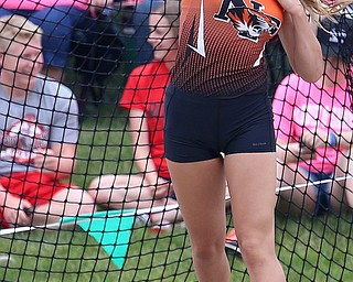 COLUMBUS, OHIO - JUne 1, 2018, OHSAA Track & Field Championships at Jesse Owens Stadium, Ohio State University-  D3 Newton Falls' Izzy Kline throws 130-01 to take 4th in the discus. SPECIAL TO | THE VINDICATOR