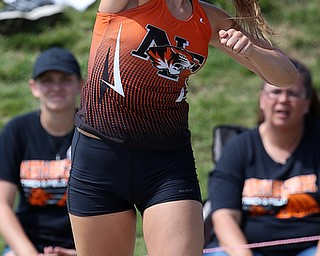COLUMBUS, OHIO - JUne 1, 2018, OHSAA Track & Field Championships at Jesse Owens Stadium, Ohio State University-  D3 Newton Falls' Izzy Kline throws 46-03' to win the state title. SPECIAL TO | THE VINDICATOR