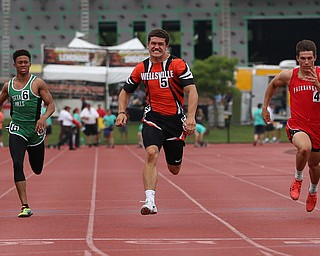 COLUMBUS, OHIO - June 1, 2018, OHSAA Track & Field Championships at Jesse Owens Stadium, Ohio State University-  D3 Wellville's Justin Wright runs 10.79 to qualifiy for 100m final. SPECIAL TO | THE VIDICATOR