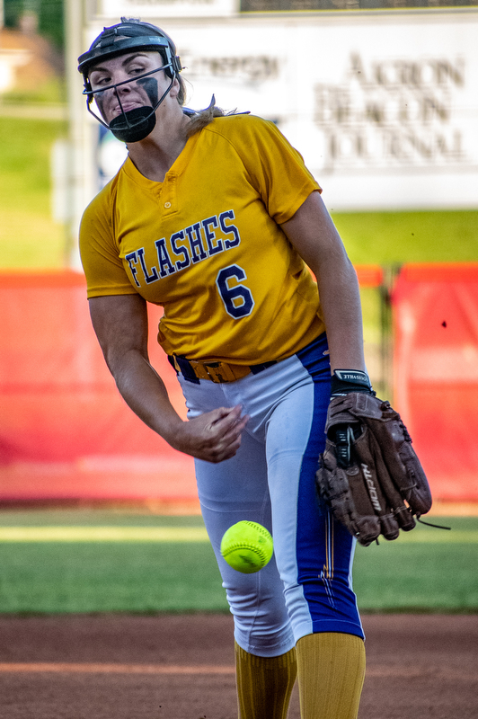 DIANNA OATRIDGE | THE VINDICATORÊ Champion pitcher Allison Smith delivers against Cardington-Lincoln during the Division III State Championship in Akron on Saturday