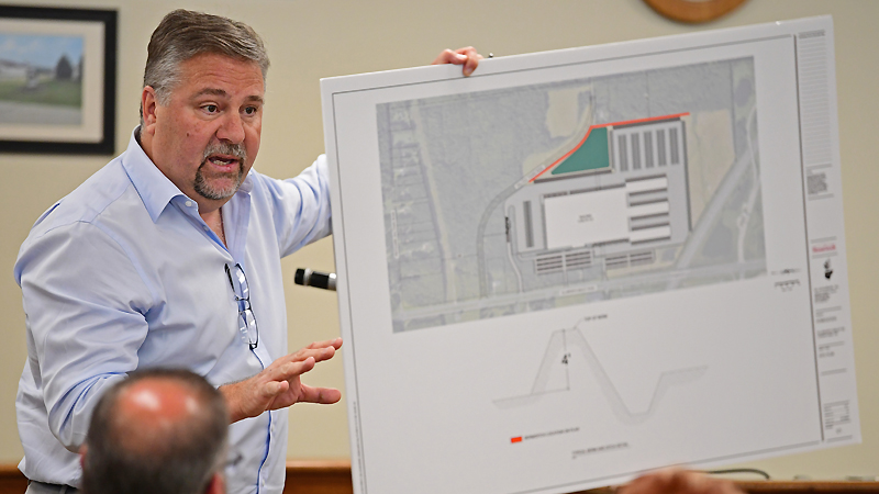 Mark Walker, vice president of real estate for HomeGoods, said the company had looked at other properties in Lordstown village but determined none of them would work. Village council on Saturday had the first of three readings of the ordinances that would rezone 290 acres on Ellsworth Bailey and Hallock Young roads from residential to industrial.