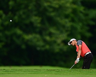 HOWLAND, OHIO - JUNE 19, 2018: Jimmy Graham of Warren follows his shot from the rough on the 13th hole, Tuesday afternoon at Avalon Lakes during the Vindy Greatest Golfer qualifying tournament. DAVID DERMER | THE VINDICATOR