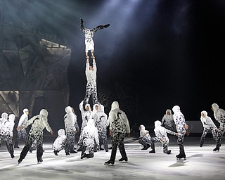 Acrobats perform in Cirque Du Soleil Crystal in Covelli Centre on Wednesday.