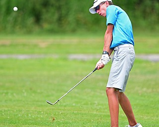 SALEM, OHIO - JULY 10, 2018: Zach Linert of Poland follows his show from the rough on the 9th hole during the Vindy Greatest Golfer Qualifier, Tuesday afternoon at Salem Hills Golf Course. DAVID DERMER   THE VINDICATOR
