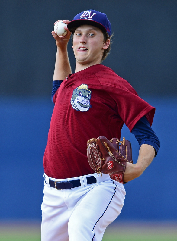 NILES, OHIO - JULY 15, 2018: Mahoning Valley Scrapers starting pitcher Cameron Mingo delivers in the fourth inning of a baseball game against raw Hudson Valley Renegades, Sunday, July 15, 2018, in Niles. The Scrappers won 8-6. DAVID DERMER | THE VINDICATOR