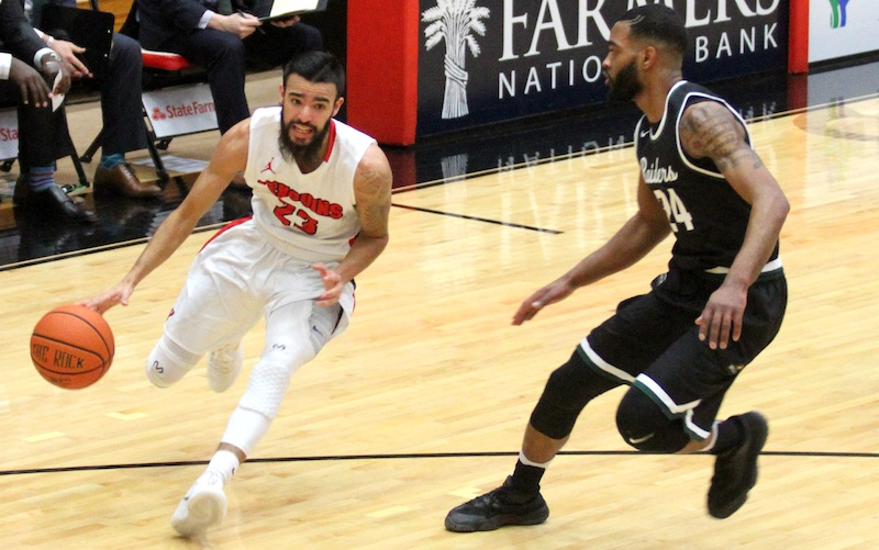 Youngstown State guard Francisco Santiago (23) saw his appeal for a sixth year of eligibility denied by the NCAA this week. He lost his redshirt senior season to a knee injury last year.