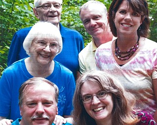 Above, front from left, Paul and Christine Owens; middle, Barbara Seely and Ann Seely; and back, Don Seely and Scott Seely.