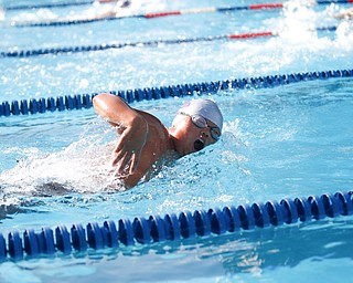 Vince Tran, 12, with APP, competes in the 50Y Freestyle during the swim meet between Applewood Swim Club and Boardman Tennis and Swim Club at the Applewood Swim and Tennis Club on Wednesday.