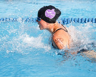 Alex Ward, 11, with APP, competes in the 200Y Medley Relay during the swim meet between Applewood Swim Club and Boardman Tennis and Swim Club at the Applewood Swim and Tennis Club on Wednesday.