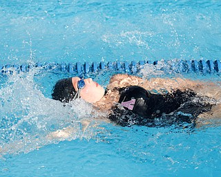 Olivia Zura, 13, with APP competes in the 200Y Medley Relay during the swim meet between Applewood Swim Club and Boardman Tennis and Swim Club at the Applewood Swim and Tennis Club on Wednesday.