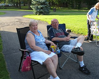 Neighbors | Jessica Harker.Eileen and Bill Stanton came out to listen to the Jim Frank Combo in the park on June 28.