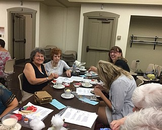 Neighbors | Submitted.Participants were all smiles as they worked on their project for the Crazy Quilting event at the Boardman library.