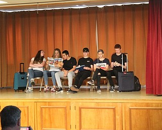 Neighbors | Abby Slanker.Teens visiting the Mahoning Valley from Belfast, Northern Ireland, performed an airport skit during the Mahoning Valley Ulster Project's annual talent show on July 20.