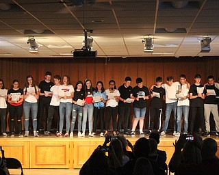 Neighbors | Abby Slanker.American teens and teens visiting the Mahoning Valley from Belfast, Northern Ireland, came together to perform a song during the Mahoning Valley Ulster Project's annual talent show.