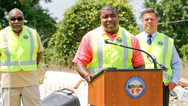 """""""No longer will we accept dumping in city neighborhoods where people live in the city of Youngstown,"""" Mayor Jamael Tito Brown said."""
