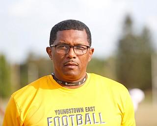 East Coach Brain Marrow at practice Tuesday