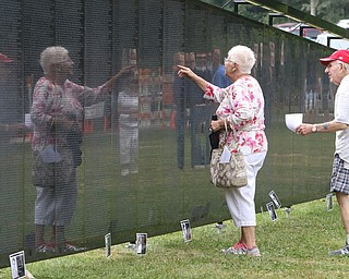 ROBERT K.YOSAY  | THE VINDICATOR..The Healing Wall - dedication - at  Packard Park..Tim Ryan ..Phyllis Ronghi and her Husband Luis  locate her brother William Skovran who was killed in 1967 ..-30-
