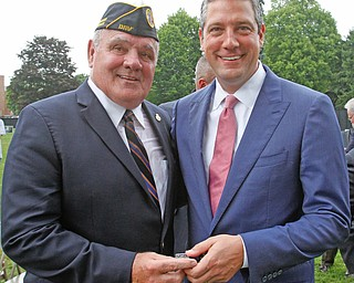 ROBERT K.YOSAY  | THE VINDICATOR..The Healing Wall - dedication - at  Packard Park..Tim Ryan .Tim Ryan presents Leo Connely.. his pin for his service in Vietnam..-30-