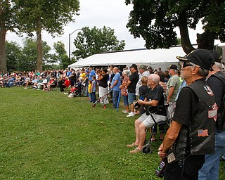 ROBERT K.YOSAY  | THE VINDICATOR..The Healing Wall - dedication - at  Packard Park..Tim Ryan ..a crowd of  over  400 participated in the dedication nd opening of the Healing Wall in Warren...-30-
