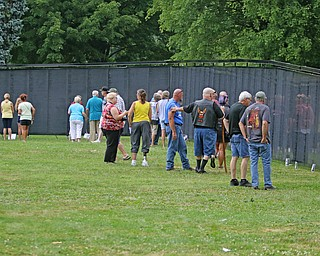 ROBERT K.YOSAY  | THE VINDICATOR..The Healing Wall - dedication - at  Packard Park..Tim Ryan ...-30-