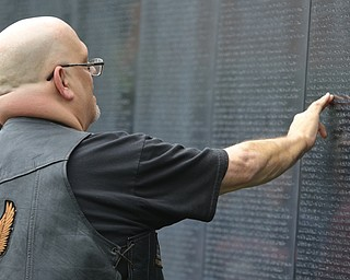 ROBERT K.YOSAY  | THE VINDICATOR..The Healing Wall - dedication - at  Packard Park..Tim Ryan ..Larry S Smith Jr finds his uncles name Kenn Kooser served and died 67-68.-30-