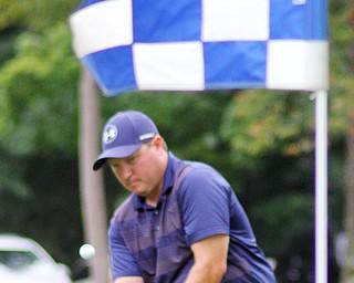 William D. Lewis The Vindicator  William Wyant chips during GGOV at Mill creek 8-17-18.