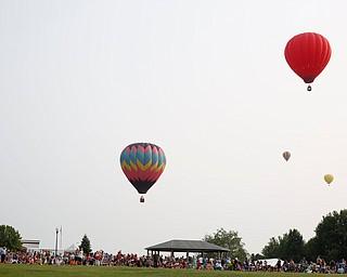 Hot air balloons take flight at the Hot air balloon festival at Mastropietro Winery on Sunday.