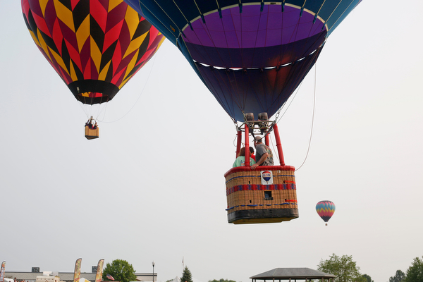 Hot air balloons take flight at the Hot air balloon festival at Mastropietro Winery on Sunday.