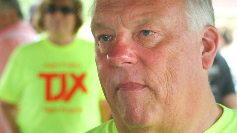 Lordstown Mayor Arno Hill was one of several speakers at a rally Monday at the UAW 1714 Hall who urged village residents to vote for zone changes that would pave the way for construction of a multimillion-dollar TJX HomeGoods warehouse. Voting is from 6:30 a.m. to 7:30 p.m. today.