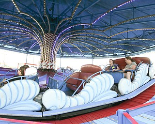 ROBERT K.YOSAY  | THE VINDICATOR..the 172  Canfield Fair is underway at the fairgrounds in Canfield- 52 rides and hundreds of vendors are ready for the traditional end of summer festivities..The Target Ride
