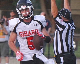 William D. Lewis The Vindicator  Girard's Nick Malito (5) scores during the second quarter of the game on Aug. 31 at Hubbard.