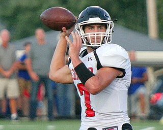 William D. Lewis The Vindicator  Girard's Mark Waid (7) gets ready to throw the ball during the game on Aug. 31 at Hubbard.