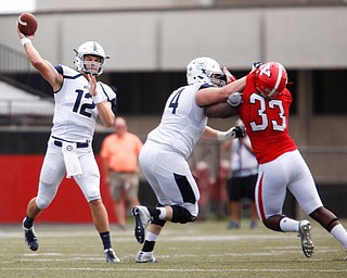 Butler's Will Marty gets ready to throw the ball during the first half of the game on Saturday.