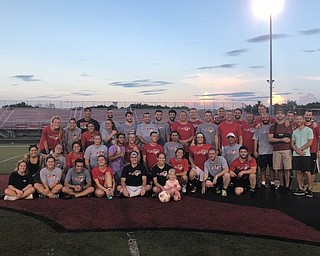 Neighbors | Submitted.The Canfield High School soccer program hosted its semi-annual alumni game at Dove Field with 40 CHS boys and girls soccer team alumni participating in the event, with all proceeds donated to the Michael Thomas Memorial Scholarship fund.