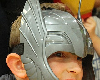 William D. Lewis The Vindicator Jayden Caldwell 8, of Brookfield dons a Marvel mash during an event 10-10-18 at YARS featuring MArvel Universe Live characters. His mother  is Master sgt Lisa Caldwell at YARS.