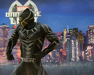 William D. Lewis The Vindicator  Marvel character Black Panther during 10-10-18 event at YARS.