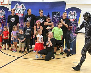 William D. Lewis The Vindicator  Marvel character Black Panther joins a group of children during 10-10-18 event at YARS.