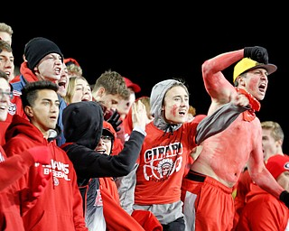 Girard's student section cheers during their game against East at Stambaugh Stadium on Saturday. EMILY MATTHEWS | THE VINDICATOR