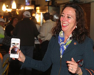 William D. Lewis The Vindicator  Michele Lepore Hagan during am election night watch party at Avalon in Youngstown.