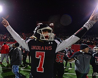 NILEs, OHIO - NOVEMBER 17, 2018: Girard's Mark Waid celebrates after Girard defeated Hubbard to win the Division 4 Region 13 championship, Saturday night at Niles McKinley High School. DAVID DERMER | THE VINDICATOR..65 is not on the Roster