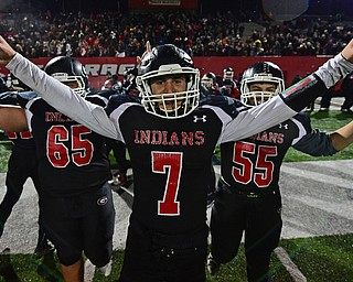 NILEs, OHIO - NOVEMBER 17, 2018: Girard's Mark Waid celebrates after Girard defeated Hubbard to win the Division 4 Region 13 championship, Saturday night at Niles McKinley High School. DAVID DERMER | THE VINDICATOR...65 is not on the Roster
