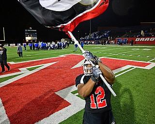 NILEs, OHIO - NOVEMBER 17, 2018: Girard's  Daryl Smith celebrates after Girard defeated Hubbard to win the Division 4 Region 13 championship, Saturday night at Niles McKinley High School. DAVID DERMER | THE VINDICATOR