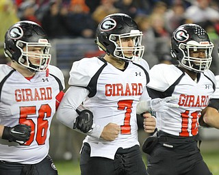William D. Lewis the Vindicator  Girard players take the field in Canton