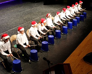 The Seaborn Bucketeers drum to Blues For Santa during The Packard Band annual Christmas Spectacular at W.D. Packard Music Hall on Sunday afternoon. EMILY MATTHEWS | THE VINDICATOR