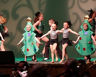 Dancers from Jill's Dance Shop perform to Rockin' Around the Christmas Tree during The Packard Band annual Christmas Spectacular at W.D. Packard Music Hall on Sunday afternoon. EMILY MATTHEWS | THE VINDICATOR