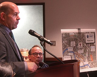 William D. Lewis The Vindicator James Dignan of the Regional Chamber speaks during 12062018 press conference at Eastgate headquarters announcing new downtown development plans.