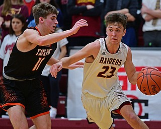 CANFIELD, OHIO - JANUARY 2, 2019: South Range drives on Springfield during the second half of their game, Wednesday night at South Range High School. DAVID DERMER   THE VINDICATOR