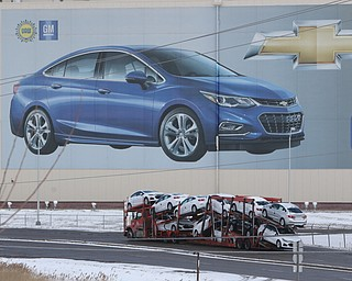 ROBERT K.YOSAY  | THE VINDICATOR..GM Lordstown finished the last Cruze at the plant Wed Afternoon. Putting thousands out of work ..the last Cruzes go by the CRUZE...