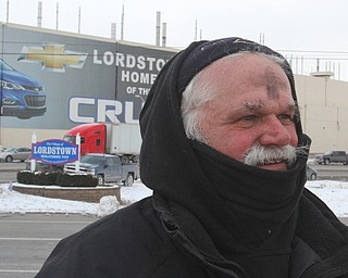 William D. Lewis The Vindicator   Werner Lange during rally 3-6-19 outside GM Lordsotwn plant.